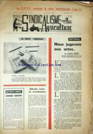 SYNDICALISME AGRICULTURE no:57 01/10/1963