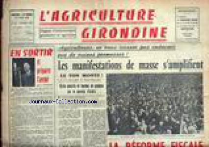 AGRICULTURE GIRONDINE (L') no:101 01/02/1960