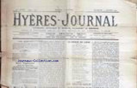 HYERES JOURNAL no:725 03/01/1909
