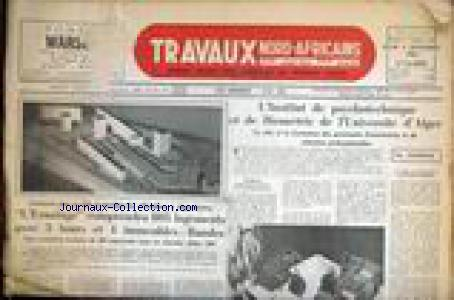TRAVAUX NORD AFRICAINS no: 03/11/1960