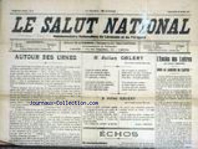 SALUT NATIONAL (LE) no:6 20/03/1927