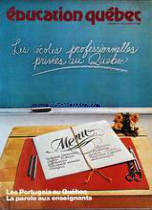 EDUCATION QUEBEC no:2 01/10/1980