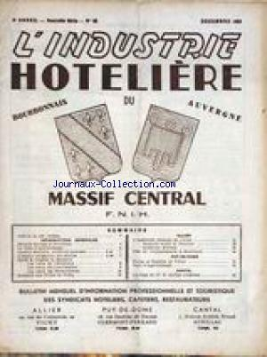 INDUSTRIE HOTELIERE (L') no:62 01/12/1962