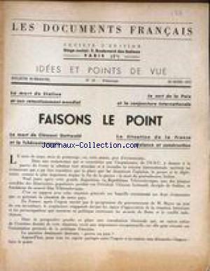 DOCUMENTS FRANCAIS (LES) no:23 20/03/1953