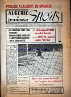 ALGERIE JEUNESSE SPORTS no:5 19/03/1963
