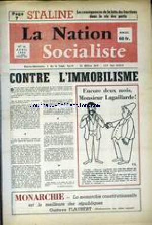 NATION SOCIALISTE (LA) no:19 01/04/1959