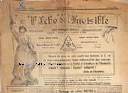 ECHOS DE L'INVISIBLE (L') no:5 01/05/1927