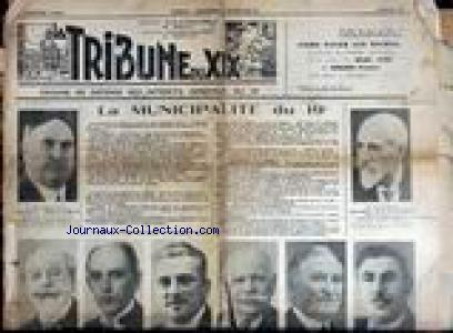 TRIBUNE DU XIXEME no: 01/01/1936