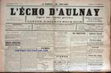 ECHO D'AULNAY (L') no:66 16/10/1926