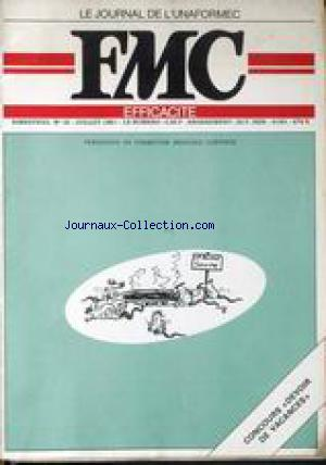 JOURNAL DE L'UNAFORMEC F.M.C (LE) no:18 01/07/1981