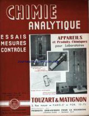 CHIMIE ANALYTIQUE no:8 01/08/1956