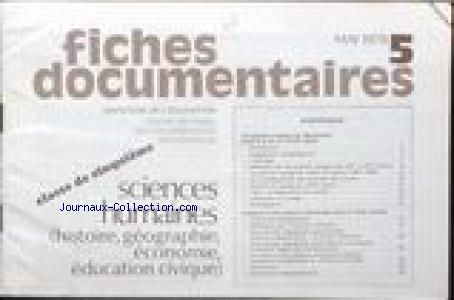 FICHES DOCUMENTAIRES no:5 01/05/1978