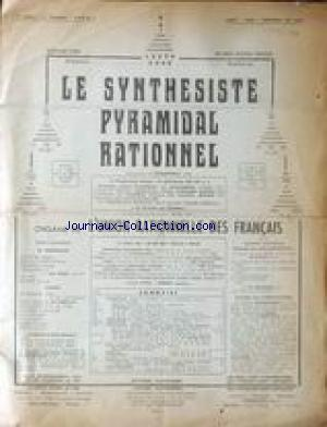 SYNTHESISTE PYRAMIDAL RATIONNEL (LE) no:2 01/07/1958