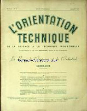 ORIENTATION TECHNIQUE (L') no:7 01/07/1953