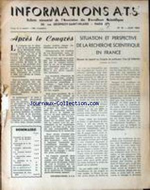 INFORMATIONS A.T.S. no:15 01/06/1953