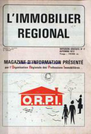 IMMOBILIER REGIONAL (L') no:2 01/10/1972
