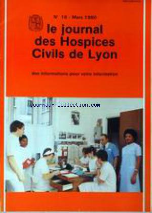 JOURNAL DES HOSPICES CIVILS DE LYON (LE) no:18 01/03/1980