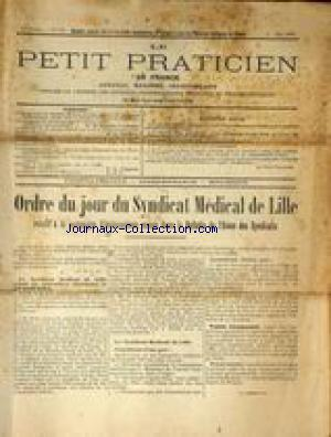 PETIT PRATICIEN DE FRANCE (LE) no:144 01/05/1914