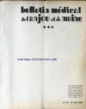 BULLETIN MEDICAL DE L'ANJOU ET DU MAINE no:16 15/06/1935