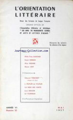 ORIENTATION LITTERAIRE (L') no:35 01/05/1957