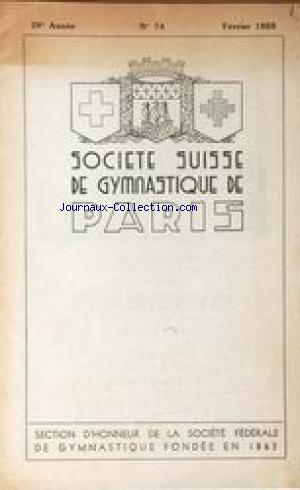 SOCIETE SUISSE DE GYMNASTIQUE DE PARIS no:74 01/02/1955
