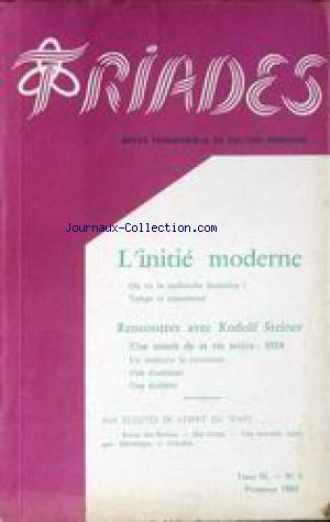 TRIADES no:1 01/04/1961