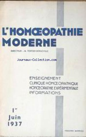 HOMEOPATHIE MODERNE (L') no: 01/06/1937