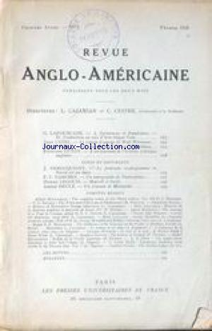 REVUE ANGLO AMERICAINE no:3 01/02/1924