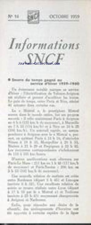 INFORMATIONS S.N.C.F. no:14 01/10/1959