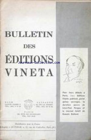 BULLETIN DES EDITIONS VINETA no: