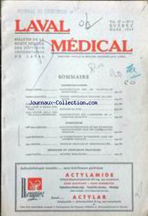 LAVAL MEDICAL/ CHIRURGIE no:3 01/03/1959