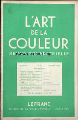 ART DE LA COULEUR (L') no:63 01/10/1938