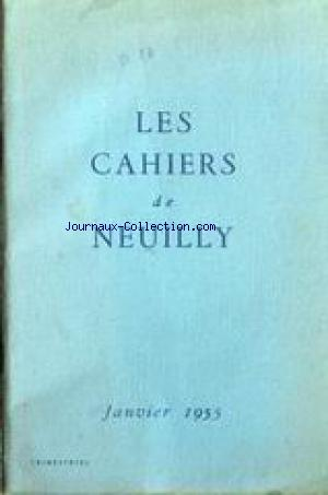 CAHIERS DE NEUILLY (LES) no: 01/01/1955