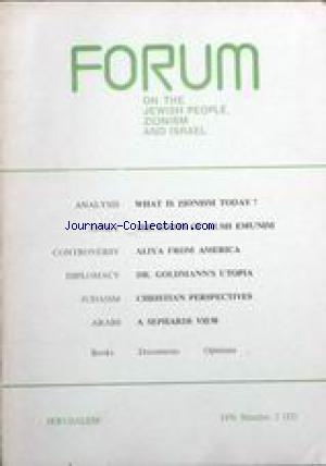 FORUM ON THE JEWISH PEOPLE/ ZIONISM AND ISRAEL no:2 01/01/1976