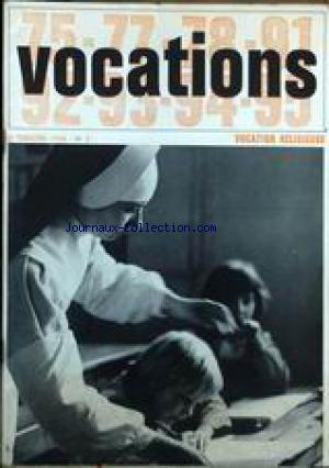 VOCATIONS - RELIGIEUSE no:2 01/04/1968
