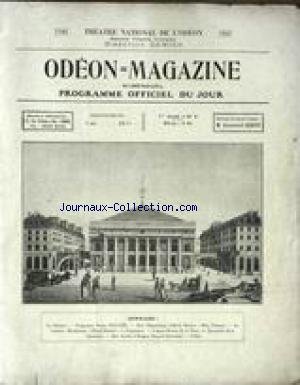 ODEON MAGAZINE no:6 01/12/1922
