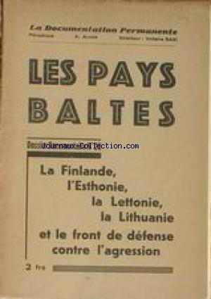 DOCUMENTATION PERMANENTE/ LES PAYS BALTES (LA) no:26