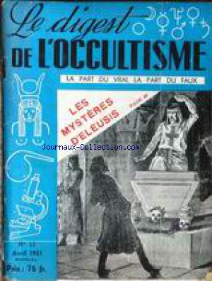 DIGEST DE L'OCCULTISME (LE) no:11 01/04/1951