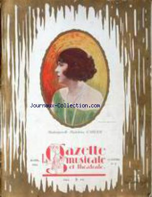 GAZETTE MUSICALE ET THEATRALE (LA) no:2 01/04/1922