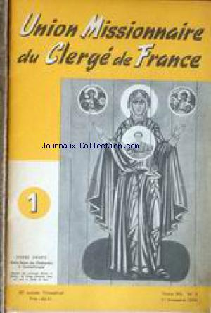 UNION MISSIONNAIRE DU CLERGE DE FRANCE no:5 01/01/1954