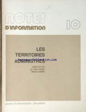 NOTES D'INFORMATION no:10