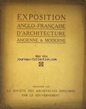 EXPOSITION ANGLO FRANCAISE D'ARCHITECTURE no: 01/05/1914