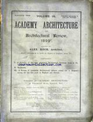 ACADEMY ARCHITECTURE AND ARCHITECTURAL REVIEW no:16 01/12/1900