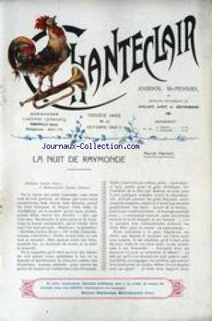 CHANTECLAIR no:25 01/10/1908