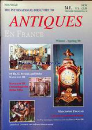 ANTIQUES EN FRANCE no:1 01/01/1998