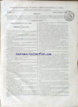 GAZETTE MUNICIPALE no:89 01/01/1852