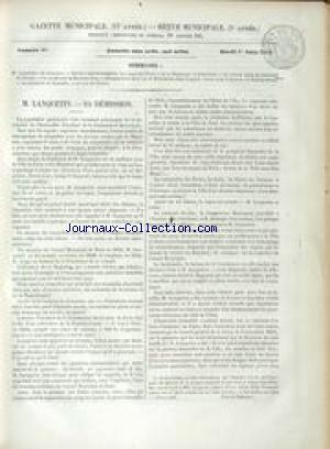GAZETTE MUNICIPALE no:99 01/06/1852