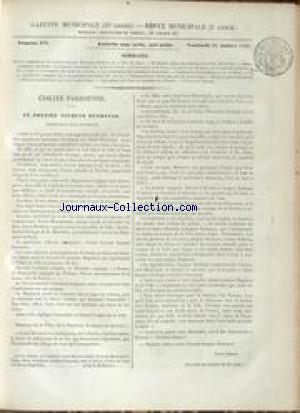 GAZETTE MUNICIPALE no:102 16/07/1852