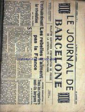 JOURNAL DE BARCELONE no:1 20/01/1937