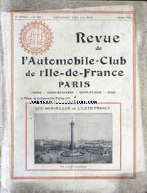 REVUE DE L'AUTOMOBILE CLUB PARIS no:140 01/04/1934
